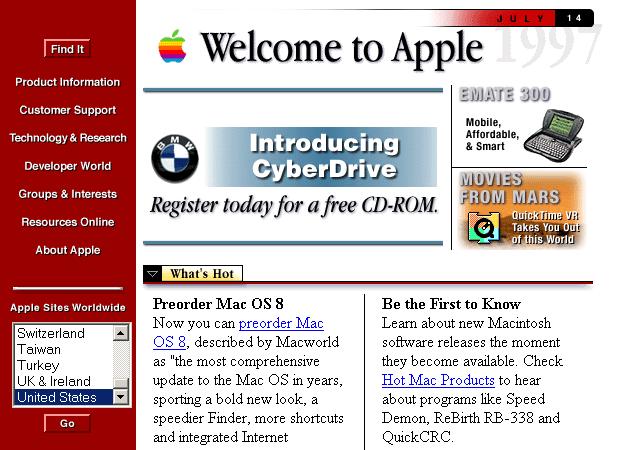 Apple.com 1997