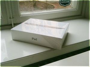 En iPad 2 i sin kartong