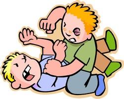 Barn som slåss