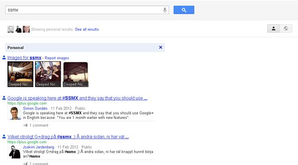 Googles nya träffsidor med personaliserat resultat