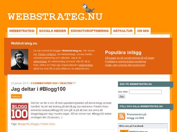 Temat Mainstream anpassat för Webbstrateg.nu
