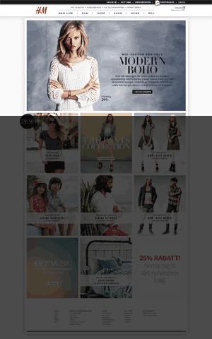 Startsida för H&M