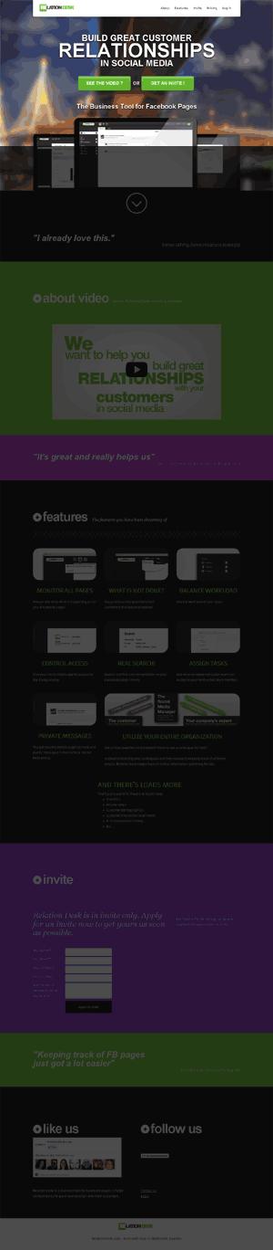 Startsida för Relation Desk