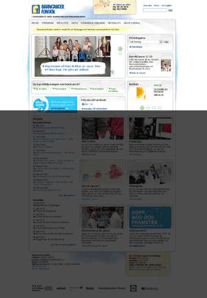 Startsida för Barncancerfonden