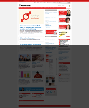 Startsida för Kommunal