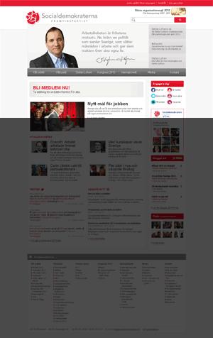 Startsida för Socialdemokraterna