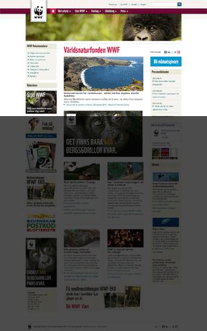 Startsida för Världsnaturfonden