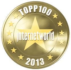 Internetworld topp 100 2013