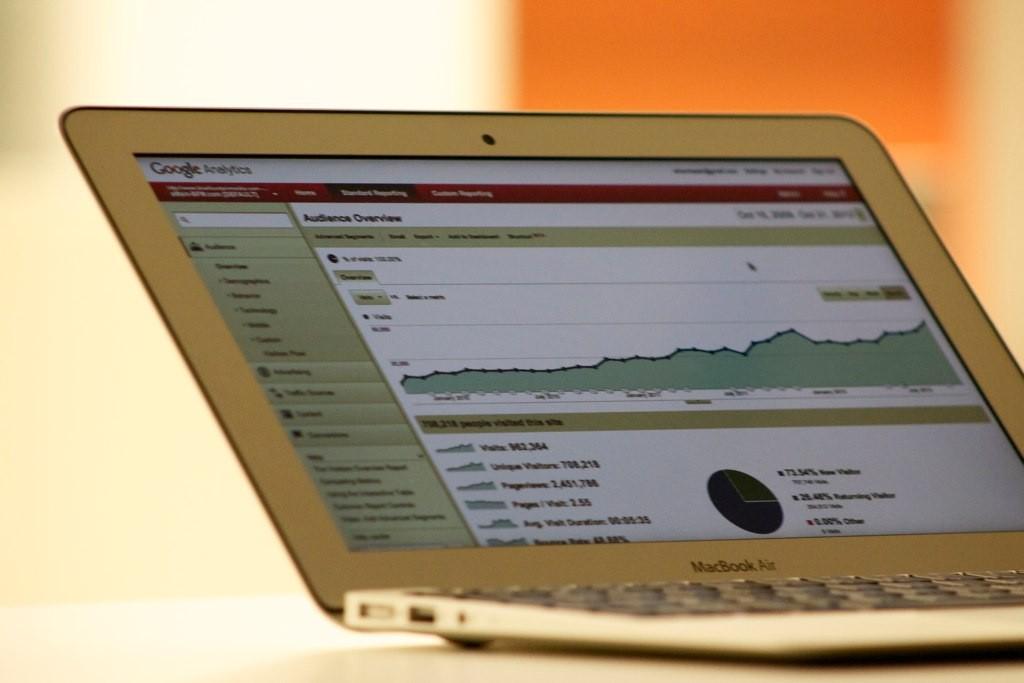 Google Analytics på en Mac. Foto: . Licens: .