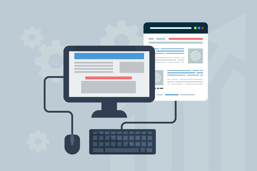 En hemsida, eller webbplats, på en dator.